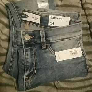 NWT Old Navy Ballerina Jeggings acid wash 14 Girls